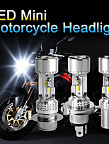 cheap -OTOLAMPARA 1pcs Motorcycle Light Bulb H4 Fan Design 25W Super Bright Lightness H6 P15D LED Bulb Fit for CFMOTO X8 Italika RC 150 Sv650 2000 Trimph Tiger Yamaha Factor 125 99% Motorcycle Models