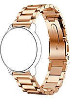 cheap -watch accessory band, fashion&gorgeous 20mm stainless steel polished watchband strap for watches with 20mm band width (rose gold)