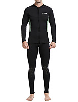 cheap -Men's Full Wetsuit 2.5mm SCR Neoprene Diving Suit Quick Dry Long Sleeve 2 Piece Front Zip Patchwork Autumn / Fall Spring Summer