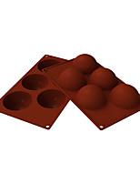 cheap -5 Hole Big Semi-sphere Silicone Pudding Mold Silicone Cake Mold Handmade Soap Mold Silicone Chocolate Mold