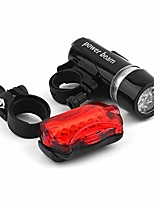 cheap -bike lights set, 5 leds, waterproof, for road bike, mountain bike, rear light (color: silver, size: free)
