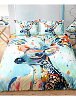 cheap -colorful elk print 3-piece duvet cover set hotel bedding sets comforter cover with soft lightweight microfiber, include 1 duvet cover, 2 pillowcases for double/queen/king(1 pillowcase for twin/single)