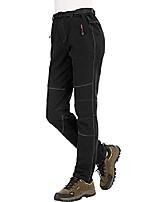 cheap -ladies hiking pants ski pants waterproof soft shell pants winter lined thermal pants trekking pants outdoor pants with belt, kz2707w-black-s