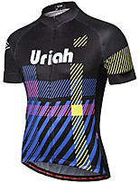 cheap -21Grams Men's Short Sleeve Cycling Jersey Black Stripes Bike Jersey Mountain Bike MTB Road Bike Cycling Breathable Quick Dry Sports Clothing Apparel / Athletic