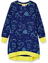 cheap -girls long sleeve jersey sweater dress small space print
