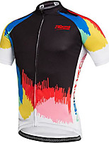 cheap -21Grams Men's Short Sleeve Cycling Jersey Black Bike Jersey Top Mountain Bike MTB Road Bike Cycling UV Resistant Quick Dry Sports Clothing Apparel / Athletic