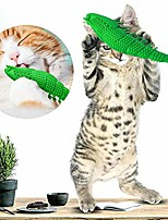 cheap -cat toothbrush pet teeth grinding cleaning catmint toy green