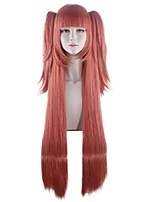 cheap -Cosplay Costume Wig Kakegurui / Compulsive Gambler Straight With 2 Ponytails With Bangs Wig Very Long Pink Synthetic Hair 40 inch Women's Anime Cosplay Creative Pink