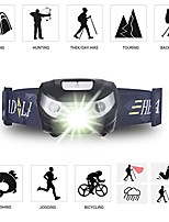 cheap -usb rechargeable led headlights, 5 modes waterproof led headlights, 150 lumens 1200mah batteries, very suitable for free work, hiking, camping, climbing, running and adventure. (black)