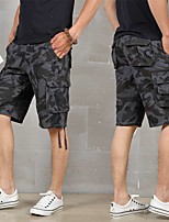 "cheap -Men's Hiking Cargo Shorts Camo Summer Outdoor 10"" Breathable Anti-tear Multi-Pocket Cotton Shorts Black Army Green Blue Grey Khaki Hunting Fishing Climbing 29 30 31 32 33"