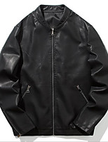 cheap -Men's Jacket Regular N / A Dailywear Black S M L XL