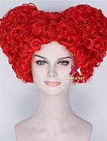 cheap -Synthetic Wig Cosplay Wig Alice's Adventures in Wonderland Curly Asymmetrical With Bangs Wig Short Red Synthetic Hair 12 inch Women's Fashionable Design Cosplay Adorable Red