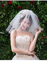 cheap -Three-tier Sweet Style Wedding Veil Shoulder Veils with Paillette Tulle