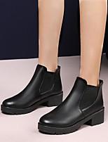 cheap -Women's Boots Chunky Heel Round Toe Daily PU Black