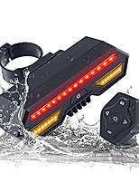 cheap -wireless control led bicycle taillight, ipx4 waterproof usb rechargeable ultra bright bicycle turn signal reflectors flashlight for mountain bike universal bike a
