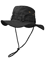 cheap -boonie  hat, outdoor wide brim sun protect hat, double layer classic us combat army style bush jungle sun cap for fishing hunting camping black