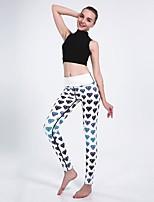 cheap -Women's Basic Chino Comfort Daily Gym Leggings Pants Graphic Geometric Pattern Geometric Ankle-Length Patchwork Print White