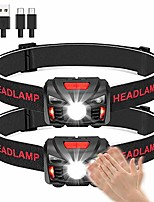 cheap -led head torch usb rechargeable headlamp headlight super bright waterproof lightweight comfortable for running fishing camping hiking kids