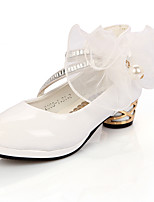 cheap -Girls' Heels Princess Shoes Patent Leather Little Kids(4-7ys) Big Kids(7years +) Party & Evening Walking Shoes White Black Pink Spring