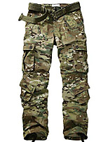 cheap -men's tear resistant lightweight multi pockets cargo pants tactical outdoor military work trousers cp camo 32