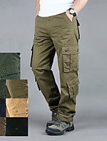 cheap -Men's Hiking Cargo Pants Solid Color Summer Outdoor Breathable Anti-tear Multi-Pocket Cotton Bottoms Black Yellow Army Green Khaki Green Hunting Fishing Climbing 29 30 31 32 33