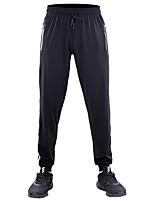 cheap -Men's Hiking Pants Trousers Stripes Summer Outdoor Quick Dry Comfortable Anti-tear Multi-Pocket Elastane Bottoms Black / White Hunting Fishing Climbing S M L XL XXL