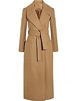 cheap -women plus size autumn winter cassic simple wool maxi long coat female robe outerwear (xx-large) camel