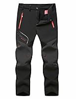 cheap -mens snow ski waterproof softshell pants outdoor hiking fleece lined zipper bottom leg