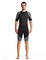 cheap -Men's Shorty Wetsuit 3mm Nylon SCR Neoprene Diving Suit Windproof Quick Dry Short Sleeve Back Zip Patchwork Summer