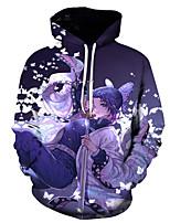cheap -Inspired by Demon Slayer Kochou Shinobu Cosplay Costume Hoodie Polyester / Cotton Blend 3D Printing Hoodie For Men's / Women's