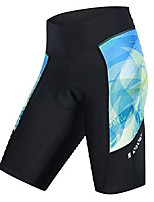 cheap -ladies bike shorts with 3d padded compression pants for cycling s blue