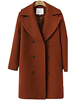 cheap -women long jacket notched lapel double breasted trench coat outwear,1,x-small