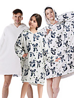 cheap -oversized sherpa wearable panda blanket hoodie with pocket for unisex kids cosplay one size fits all