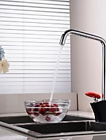 cheap -Kitchen faucet - Single Handle One Hole Painted Finishes Standard Spout Mount Outside Contemporary Kitchen Taps