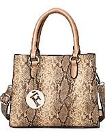 cheap -Women's Bags Satchel Top Handle Bag Date Office & Career Handbags Red Khaki Brown Gray