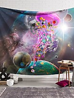 cheap -wall tapestry art decor blanket curtain hanging home bedroom living room decoration planet jellyfish polyester