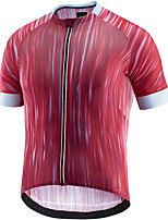 cheap -21Grams Men's Short Sleeve Cycling Jersey Red Stripes Bike Jersey Mountain Bike MTB Road Bike Cycling Breathable Sports Clothing Apparel / Athletic