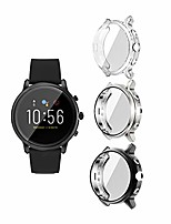 cheap -covers compatible with fossil gen 5 carlyle watch case accessories full protective cover for carlyle gen 5 (not fit for julianna) (black+silver+clear)