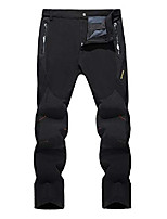 cheap -men's water resistant hiking pants 4 zipper pockets fleece lined ski pants black, 34