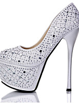 cheap -Women's Dance Shoes Pole Dancing Shoes Heel Slim High Heel Black Silver Loafer Adults'