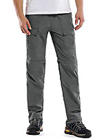cheap -men's outdoor anytime quick dry convertible lightweight hiking fishing zip off cargo work pant grey