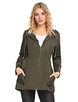 cheap -women's outdoor waterproof lightweight windbreaker raincoat hooded rain jacket(army green,xl)