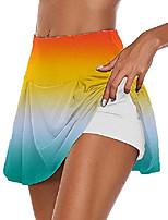 cheap -women's tie dye 2 in 1 skirts inner shorts safety panties training joggers shorts golf skorts tennis skirts orange