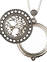"""cheap -tree of life magnifier magnifying glass sliding top magnet pendant necklace, 30"""" (silver tone)"""