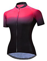 cheap -21Grams Women's Short Sleeve Cycling Jersey Black Gradient Bike Jersey Mountain Bike MTB Road Bike Cycling Breathable Sports Clothing Apparel / Athletic