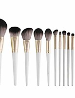 cheap -beauty professional 12pcs pink makeup brushes kit cosmetic make up tool set eyeshadow eyebrow eyelash eyeliner lip powder blush yyfus (color : white, size : free)