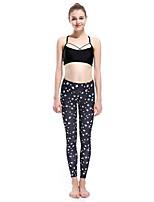 cheap -Women's Basic Chino Comfort Daily Gym Leggings Pants Animal Ankle-Length Patchwork Print Black