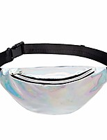 cheap -fanny pack waist packs women pvc sports casual crossbody bags (silver