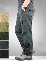 cheap -Men's Hiking Cargo Pants Solid Color Summer Outdoor Comfortable Anti-tear Multi-Pocket Cotton Bottoms Green / Yellow Black Army Green Grey Khaki Hunting Fishing Climbing M L XL XXL XXXL