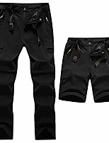 cheap -men's outdoor pants two parts can be dismantled with a belt quick-drying hiking pants functional pants